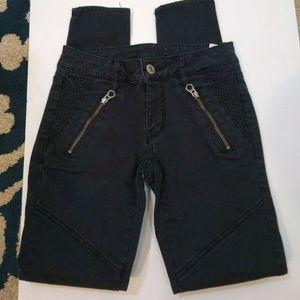 AEO  Blue Moto Skinny Crop Stretch Jeans